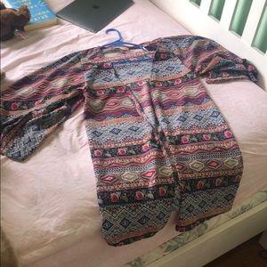 Multicolored Kimono